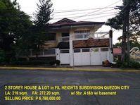 Fil Heights Subdivision Quezon City House Lot Sale 012016